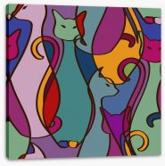 Cubism cats Stretched Canvas 60905189