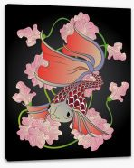 Red fish swim Stretched Canvas 62023469