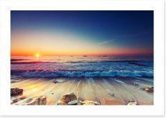 Sunrise over the sea Art Print 62374288