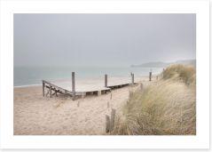 White sand jetty Art Print 62706416