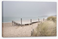 White sand jetty Stretched Canvas 62706416