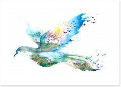 The flight of Spring Art Print 62827881