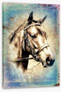 Vintage mustang Stretched Canvas 63667523