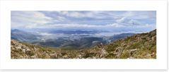Hobart from Mt Wellington, Tasmania
