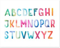 Alphabet and Numbers Art Print 69150384
