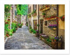 Tuscan facades, Italy