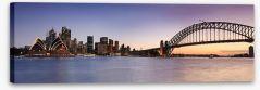 Sydney CBD panoramic at dusk
