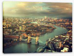 London aerial with Tower Bridge Stretched Canvas 71748761