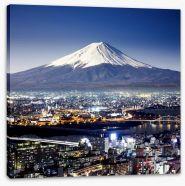 Mount Fuji cityscape Stretched Canvas 72049437