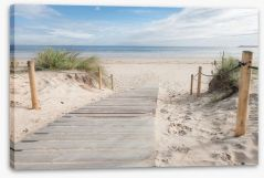 White sand walkway Stretched Canvas 74072546
