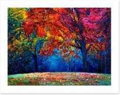 Autumn in the park Art Print 75257548