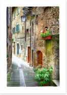 Through the medieval alley, Italy
