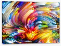 Streaming colour Stretched Canvas 80222134