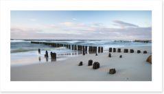 Breakwaters on the beach