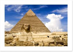 The sphinx at Giza, Egypt
