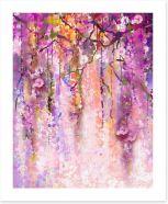 Cascading wisteria
