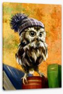 Bookish owl Stretched Canvas 85590047