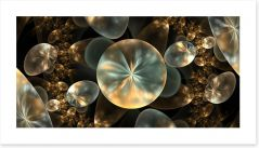 Golden orbs Art Print 86232552