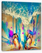 Sand beneath your toes Stretched Canvas 86590774