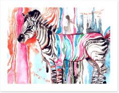 Watercolour zebra Art Print 87232366