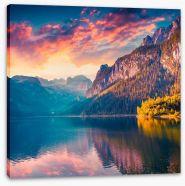 Sunrise over Vorderer Gosausee lake
