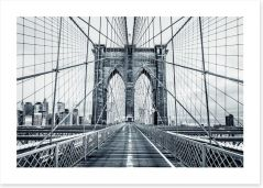 The Brooklyn Bridge Art Print 94990249