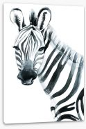 Watercolour zebra Stretched Canvas 97951290