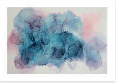 Soft blush Art Print ET0053