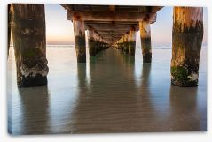 Rye jetty Stretched Canvas LH0018