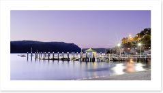 Palm Beach wharf at dusk