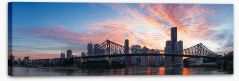 Story Bridge sunset Stretched Canvas NB0021