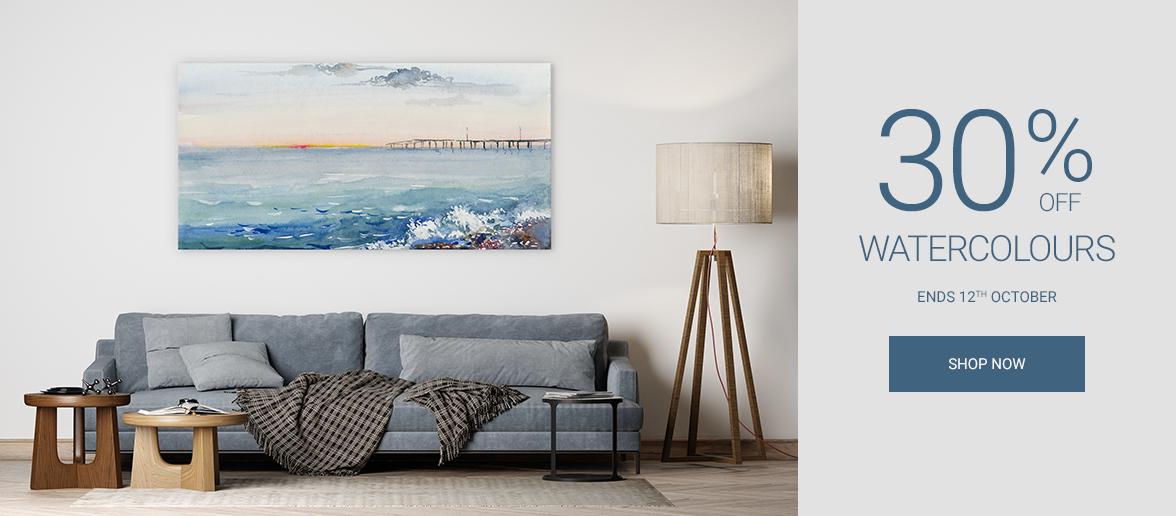 Wall Art Prints Watercolour Canvas Prints Sale