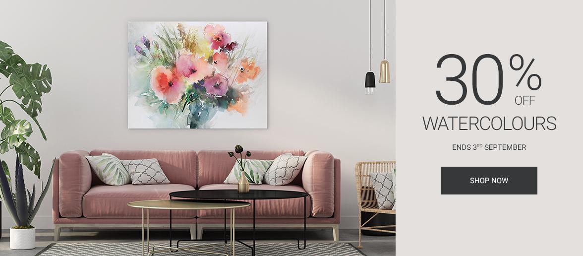 Wall Art Prints - Watercolour Canvas Sale